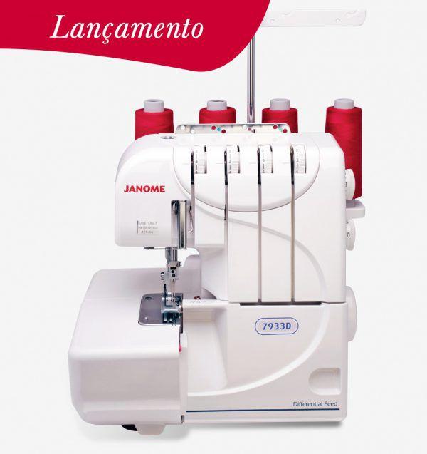 Lançamento Máquina de Costura Overlock Doméstica Janome 7933D