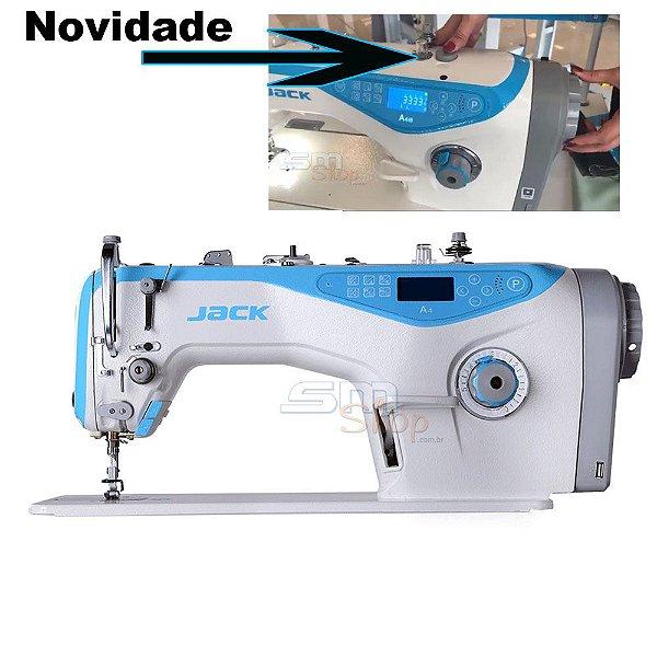 Lançamento Máquina de Costura Reta Industrial Jack A4M Direct Drive com Kit Calcadores + Bobinas + Agulhas