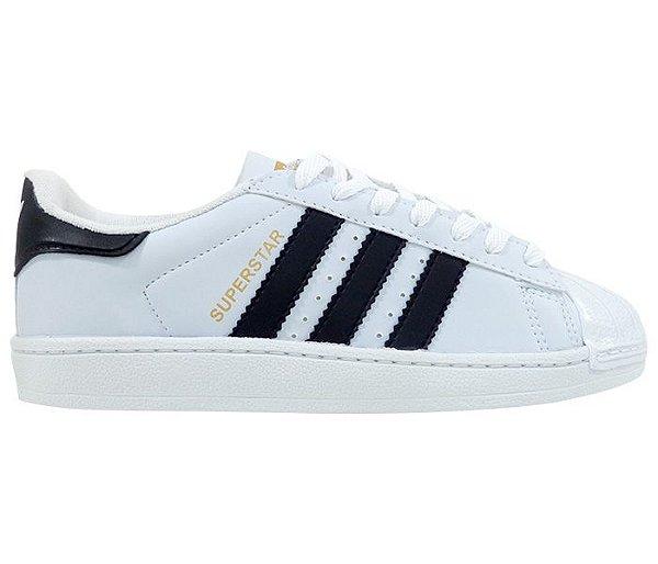 b7aa52cb202 Adidas Superstar Branco e Preto - Life City