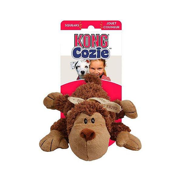 Brinquedo Kong para Cães Cozie Funky Monkey Marrom