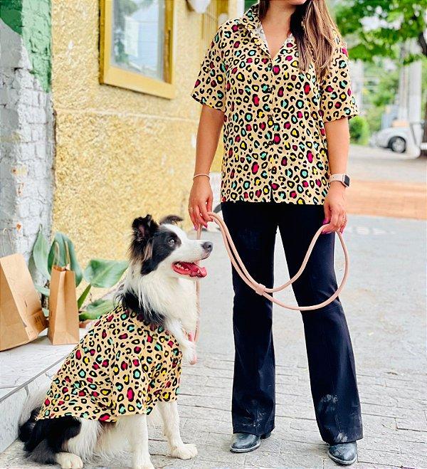 Camisa Estampada Para Humano - Animal Print