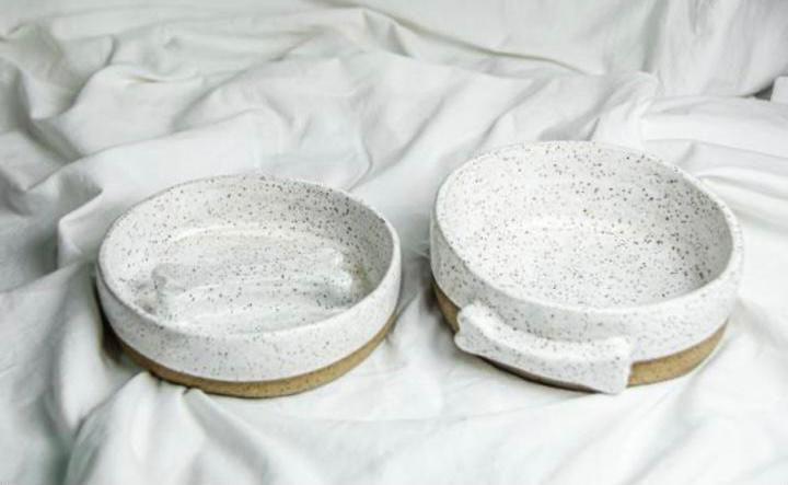 Conjunto em Cerâmica Comedouro Lento
