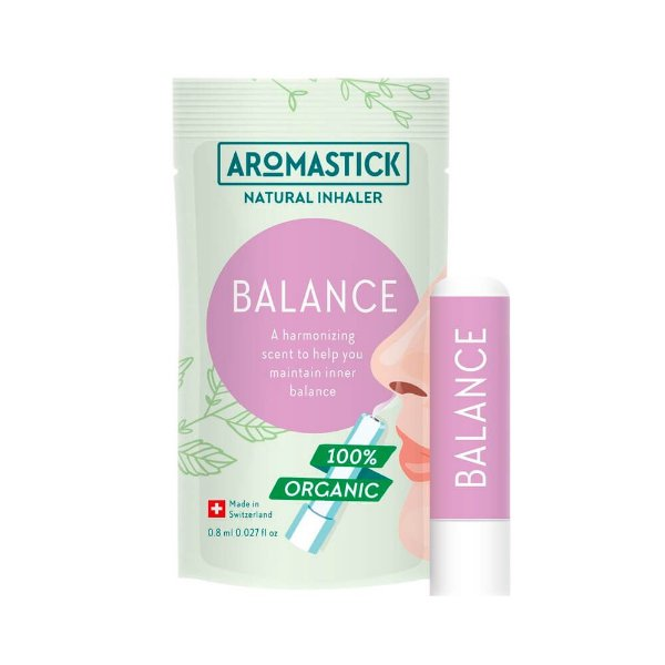 Inalador Nasal Orgânico Equilíbrio – AromaStick