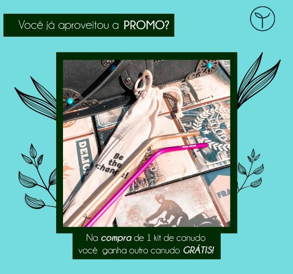 "Kit ""Be the Change"" - Canudo + Bag + Escovinha"