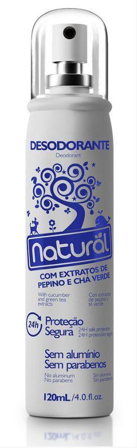 Desodorante Natural com Extratos de Pepino e Chá Verde 120mL