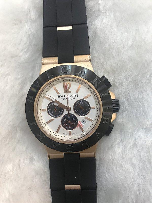 BVLGARI TITANIUM BORRACHA - O melhor dos relógios - loja online 205dd4828c