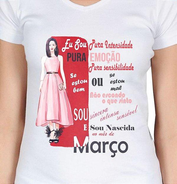 Camiseta feminina mulher de março