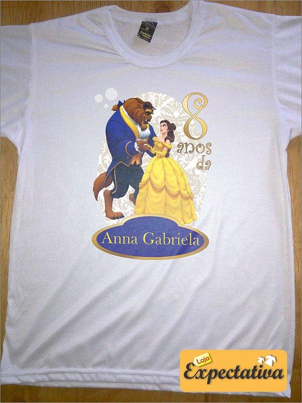 Camiseta Personalizada de Aniversário A Bela e a Fera - 01
