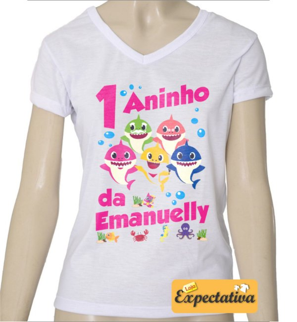 Camiseta Personalizada de Aniversário Baby Shark - 02