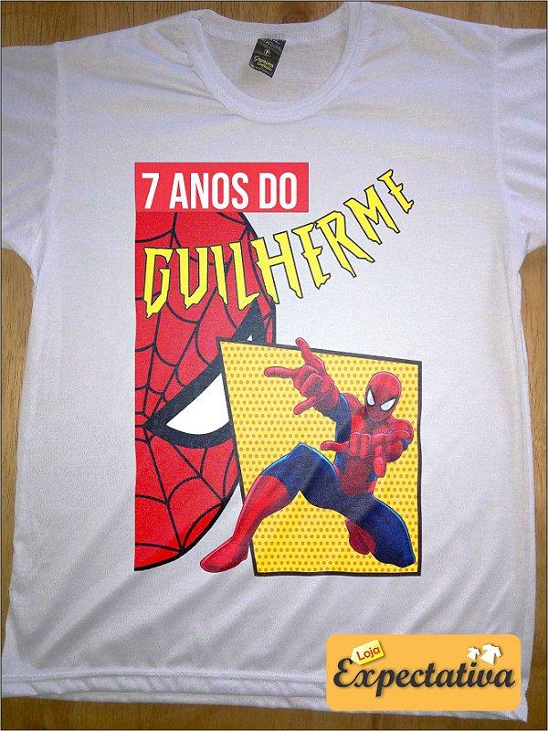 Camiseta Personalizada de Aniversário Homem Aranha - 01
