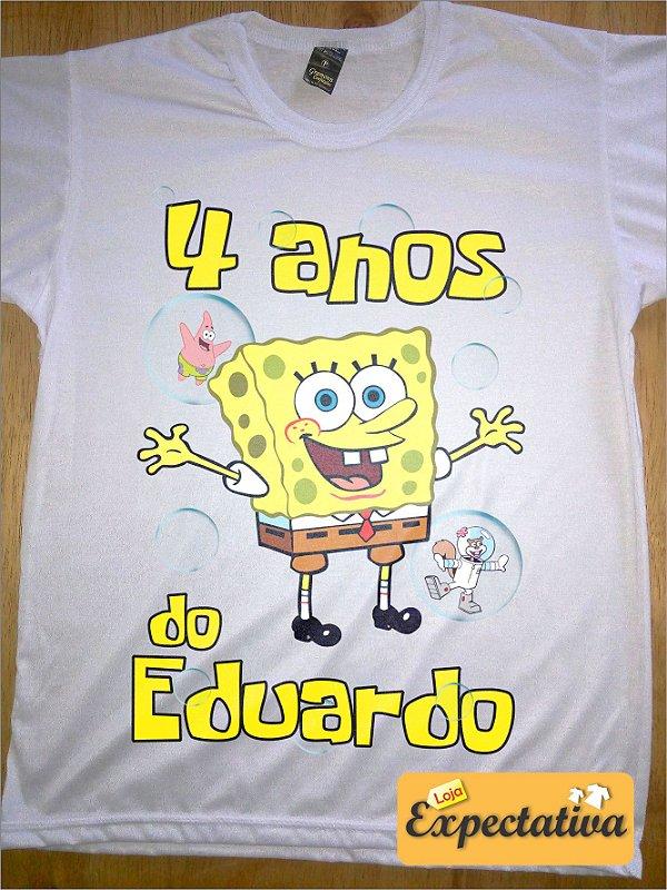 Camiseta Personalizada de Aniversário Bob Esponja - 01
