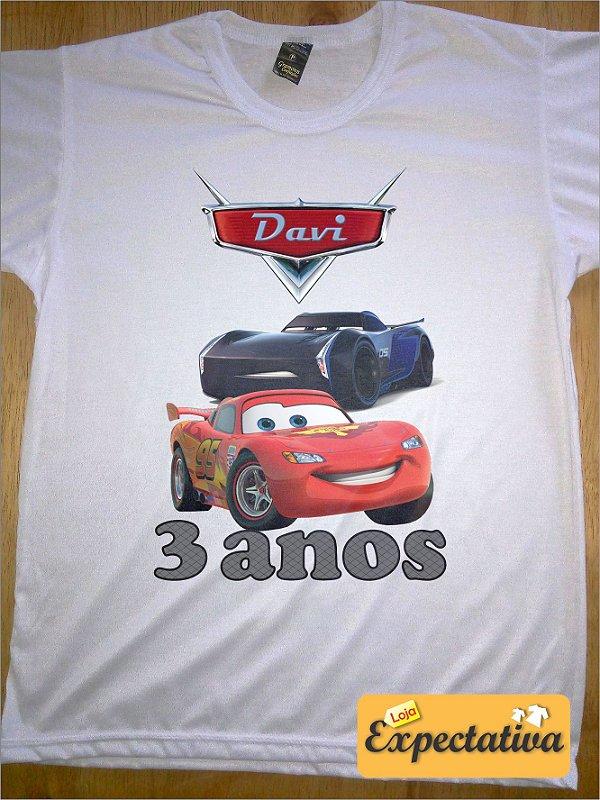 Camiseta Personalizada de Aniversário Carros - 01