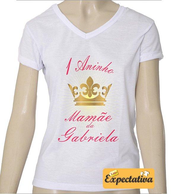 Camiseta Personalizada de Aniversário Coroa - 01