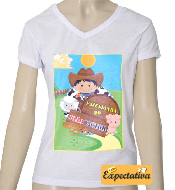 Camiseta Personalizada de Aniversário Fazendinha - 01