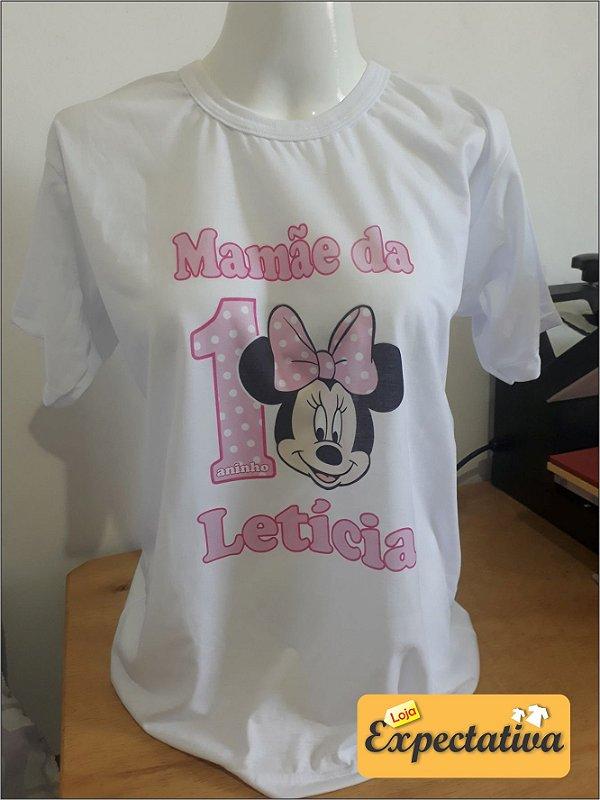 Camiseta Personalizada de Aniversário Minnie - 01