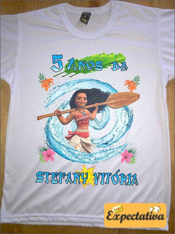 Camiseta Personalizada de Aniversário Moana - 01