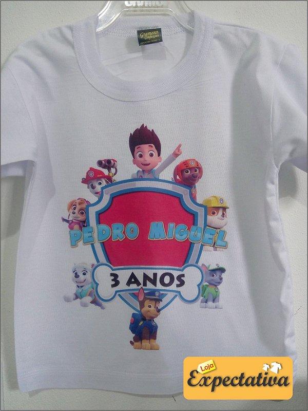 Camiseta Personalizada de Aniversário Patrulha Canina - 01