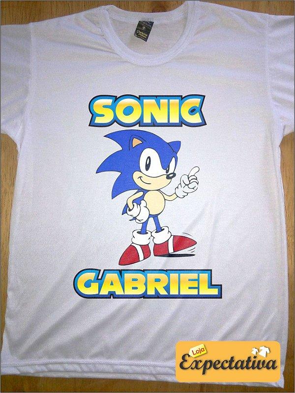 Camiseta Personalizada de Aniversário Sonic - 01
