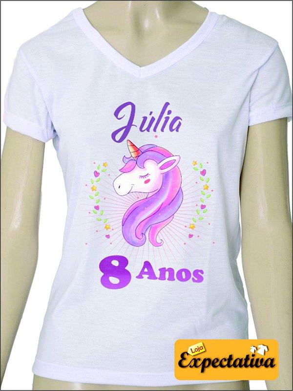 Camiseta Personalizada de Aniversário Unicórnio - 01