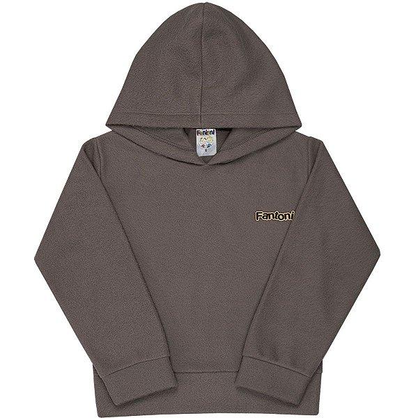 Blusão Soft com Capuz Cinza