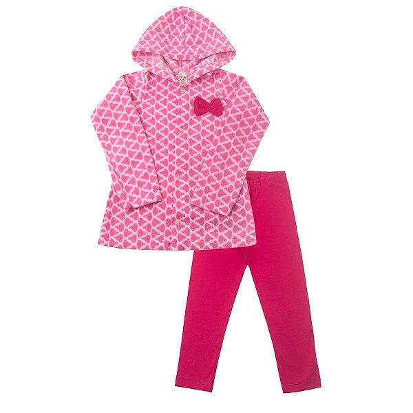 1cbdc0711 Conjunto Casaco Soft Rosa e Legging Cotton - Dudalui