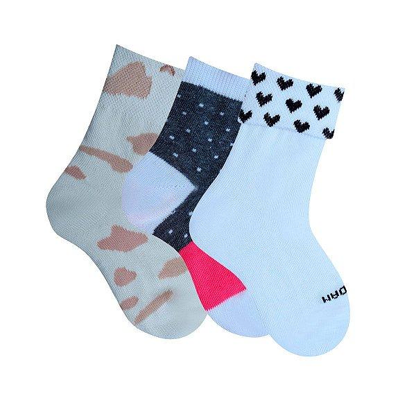 62a403088 Kit com 3 pares de meias Infantil - Dudalui