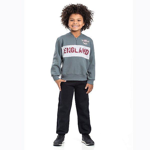 Conjunto Moletom England Cinza