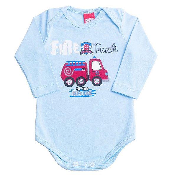 Body Cotton Azul Fire Truck