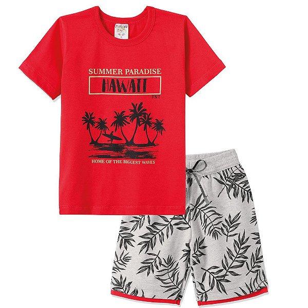Conjunto Summer Paradise Hawaii Vermelho