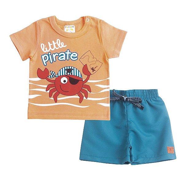 Conjunto Little Pirate Laranja