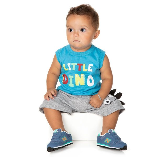 Conjunto Little Dino Azul