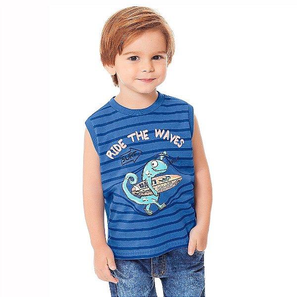 Camiseta Ride The Waves Azul