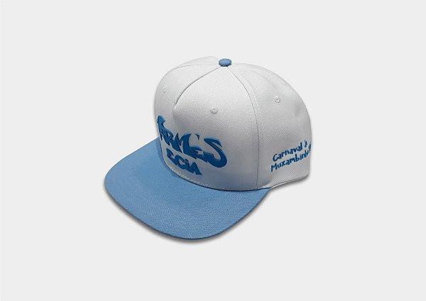04 - Boné Azul/Branco Bloco Vermes e Cia
