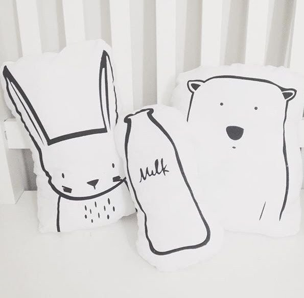 Kit 03 Almofadinhas - Animals&milk