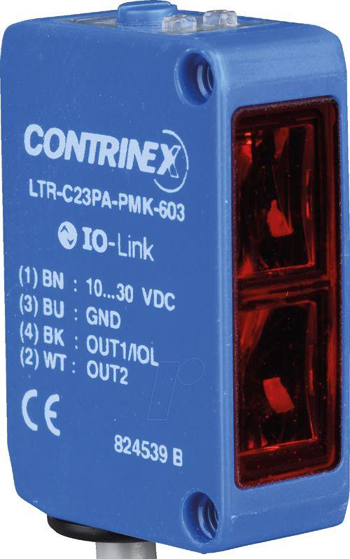 LTR-C23PA-PMS-603 SENSOR FOTOELÉTRICO DIFUSO QUADRADO 1500MM PNP M8 4P CONTRINEX