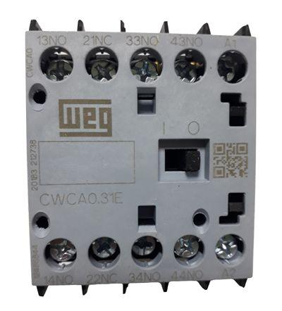 CWCA0-31-00V26 MINI CONTATOR TRIPOLAR 3NA+1NF 220VCA 12486844 WEG