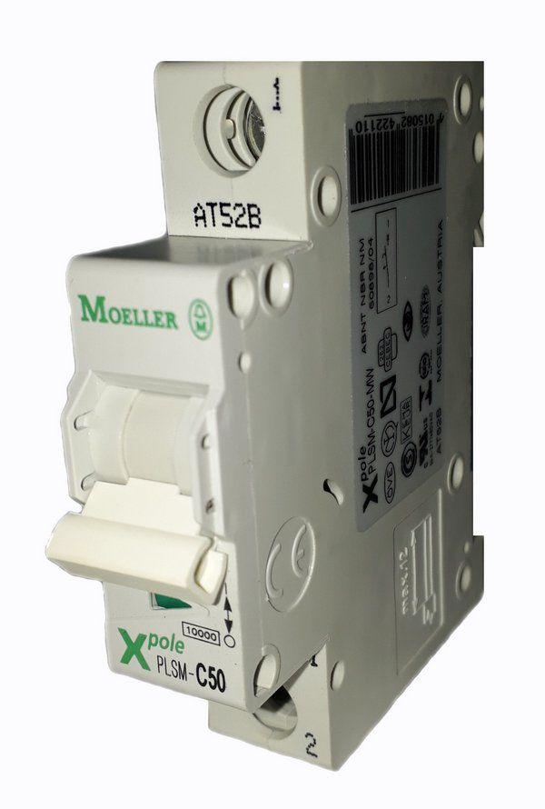 PLSM-C50/1-MW MINI DISJUNTOR 1P 50A 10KA CURVA C 242211 MOELLER EATON