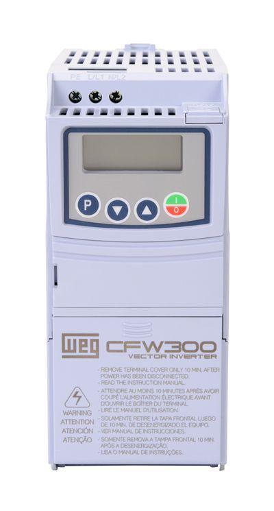 CFW300A02P6S2NB20 INVERSOR DE FREQUÊNCIA 0,5CV 220VCA MONOFÁSICO 13059320 WEG