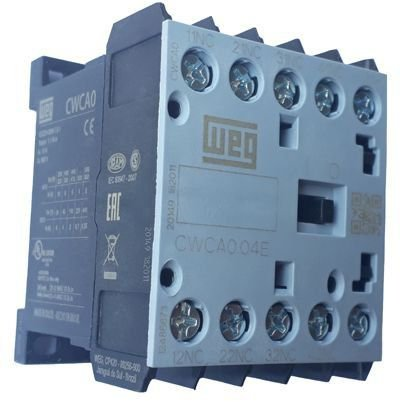 CWCA0-04-00C03 MINICONTATOR TRIPOLAR AUXILIAR 24VDC/VCC 4 NF 12486873 WEG