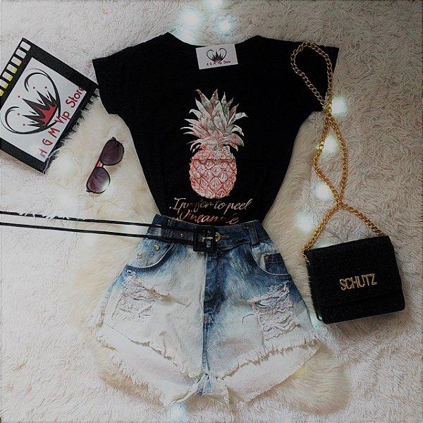 d225319e9 T~Shirt Feminina Abacaxi - A G M Vip Store