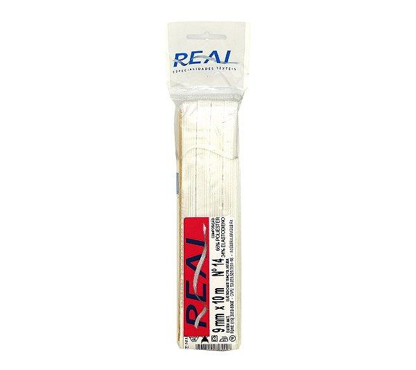 Elástico Chato Trançado N.14 ( 9mm ) - Peça com 10 Metros - Real