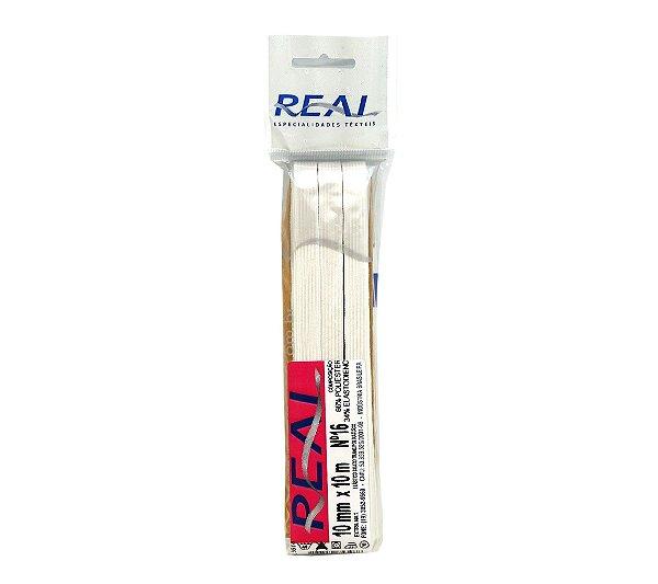 Elástico Chato Trançado N.16 ( 10mm ) - Peça com 10 Metros - Real