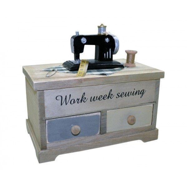 Mini Máquina de Costura com 2 gavetas - REF SD13245