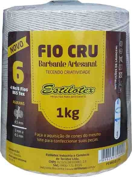 Barbante Cru Estilotex 1kg 4/6 - 6 Fios