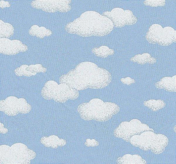 Tecido Tricoline 100% Algodão - 0,50m X 1,50m - Nuvens