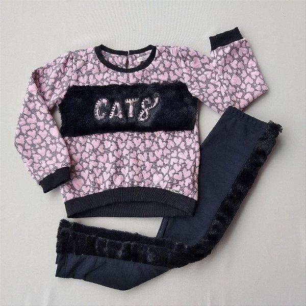 CONJUNTO INFANTIL MENINA BLACK CATS - MON SUCRÉ