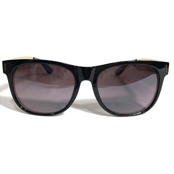 232f0e595 Óculos de Sol Preto Dourado - Óculos Laluz Boutique | Loja Online de ...