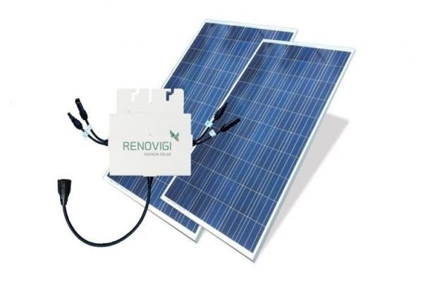 Energia solar - Gerador fotovoltaico - Gera Até 600Wh/Mês-Renovigi 4,08kwp- 12 módulos 340w  (instalado)
