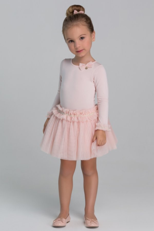 Conjunto Ballet Body Saia e Mochila Rosa Chá Petit Cherie Ref:80272
