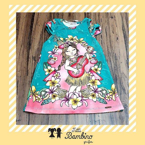 Vestido Manga Curta Estampado Floral com Detalhe na Manga MON SUCRÉ ref. 31006
